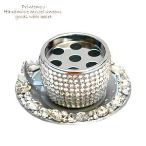 コーヒーカップ 灰皿 高級 ガラスストーン|printemps410