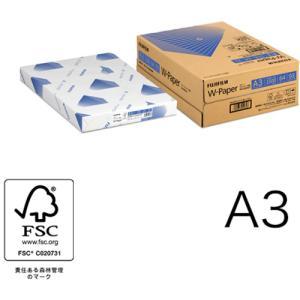 A3コピー用紙 W-Paper 1500枚/3冊/箱 ZGAA1283 富士フィルムBI|printry