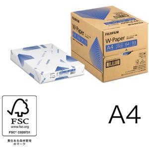 A4コピー用紙 W-Paper 2500枚/5冊/箱 ZGAA1354 富士フィルムBI|printry