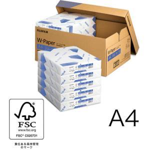 A4コピー用紙 W-Paper 5000枚/10冊/箱フタ式 ZGAA1372 富士フィルムBI|printry