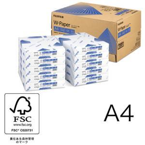 A4コピー用紙 W-Paper 5000枚/10冊/箱 ZGAA1280 富士フィルムBI|printry