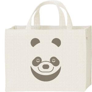 キャンバスバッグ・スクエア パンダ(ファニーフェイス・ぱんだ) カレッジバッグ|prints