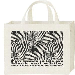 シマウマの群れ(白黒つけられる縞馬)/キャンバスバッグ・スクエア カレッジバッグ prints
