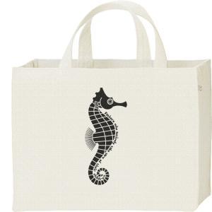 タツノオトシゴ(お父さんは育メン)/キャンバスバッグ・スクエア カレッジバッグ|prints