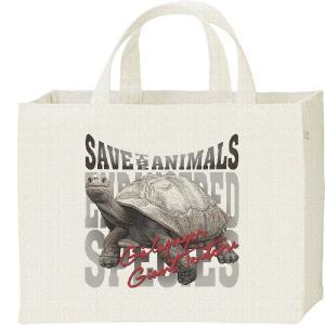 キャンバスバッグ・スクエア ガラパゴス ゾウガメ(絶滅危惧動物)ぞうがめ カレッジバッグ prints