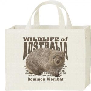 ヒメ ウォンバット(オーストラリアの生物)/キャンバスバッグ・スクエア カレッジバッグ|prints