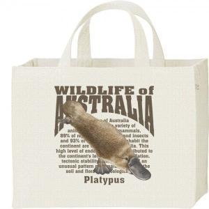 カモノハシ(オーストラリアの生物)/キャンバスバッグ・スクエア カレッジバッグ|prints