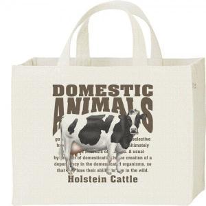 ホルスタイン牛(乳牛)/飼育動物・家畜/キャンバスバッグ・スクエア カレッジバッグ prints
