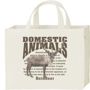 トナカイ/飼育動物・家畜/キャンバスバッグ・スクエア カレッジバッグ|prints
