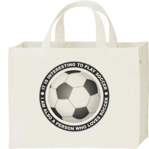 キャンバスバッグ・スクエア サッカー(サッカーボール) カレッジバッグ|prints