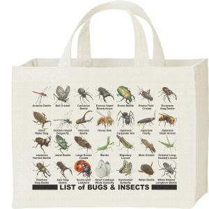 キャンバスバッグ・スクエア 虫のリスト カレッジバッグ|prints