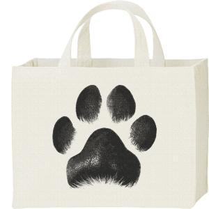 キャンバスバッグ・スクエア 犬の肉球 カレッジバッグ|prints