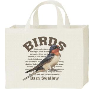 キャンバスバッグ・スクエア 燕(ツバメ)鳥シリーズ カレッジバッグ|prints