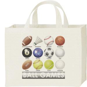 球技のボール(&シャトルコック)/キャンバスバッグ・スクエア カレッジバッグ prints