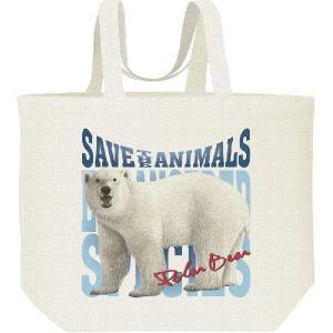 白熊(しろくま)絶滅危惧動物(ホッキョクグマ)/キャンバスバッグ・L エコバッグ|prints