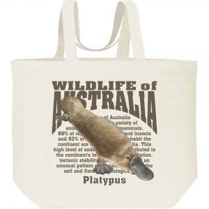 カモノハシ(オーストラリアの生物)/キャンバスバッグ・L エコバッグ|prints