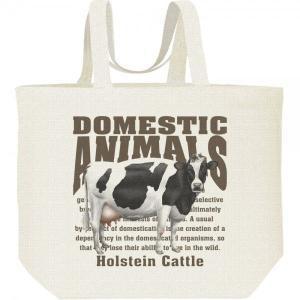 ホルスタイン牛(乳牛)/飼育動物・家畜/キャンバスバッグ・L エコバッグ prints