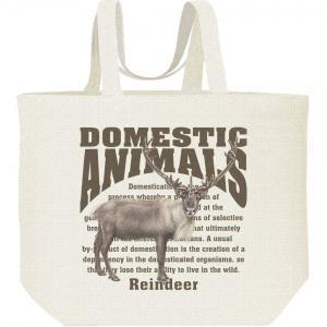 トナカイ/飼育動物・家畜/キャンバスバッグ・L エコバッグ|prints