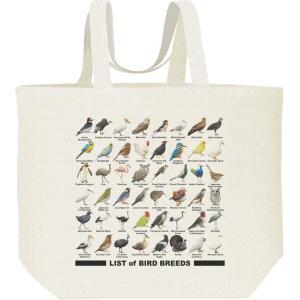 キャンバスバッグ・L 鳥のリスト エコバッグ|prints