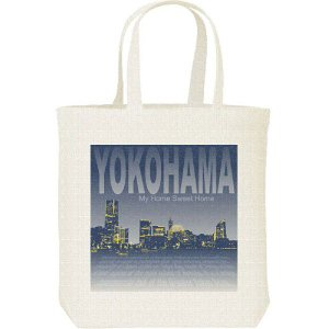 横浜の夜景(みなとみらい)/キャンバスバッグ・M トートバッグ|prints