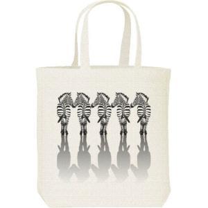 5頭の縞馬(しまうま)/キャンバスバッグ・M トートバッグ prints