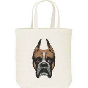 ボクサー(犬)の顔/キャンバスバッグ・M トートバッグ|prints