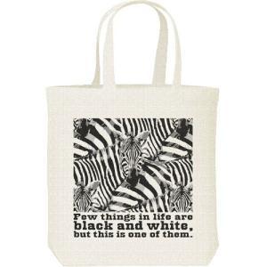 シマウマの群れ(白黒つけられる縞馬)/キャンバスバッグ・M トートバッグ prints