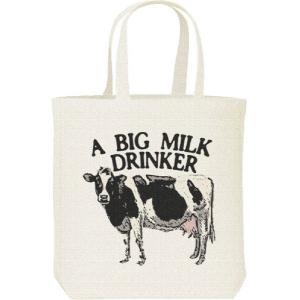 牛(ホルスタイン)ミルク大好き/キャンバスバッグ・M トートバッグ prints