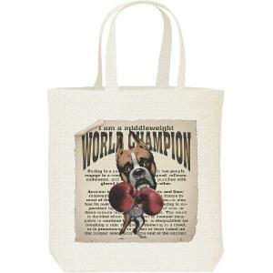 ボクシング世界チャンピオン(ボクサー犬)/キャンバスバッグ・M トートバッグ|prints
