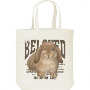 ホーランド ロップ イヤー(兎)ウサギ(ペット シリーズ)/キャンバスバッグ・M トートバッグ|prints