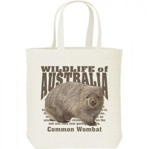 ヒメ ウォンバット(オーストラリアの生物)/キャンバスバッグ・M トートバッグ|prints