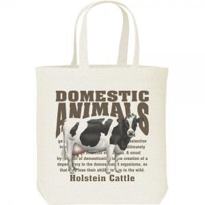 ホルスタイン牛(乳牛)/飼育動物・家畜/キャンバスバッグ・M トートバッグ prints