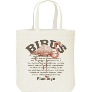 フラミンゴ(鳥シリーズ)/キャンバスバッグ・M トートバッグ|prints