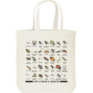 キャンバスバッグ・M 虫のリスト トートバッグ|prints