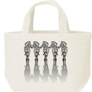 5頭の縞馬(しまうま)/キャンバスバッグ・S ランチバッグ prints