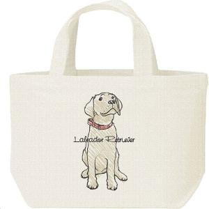 ラブラドール レトリバー(クレヨンタッチ)犬/キャンバスバッグ・S ランチバッグ|prints