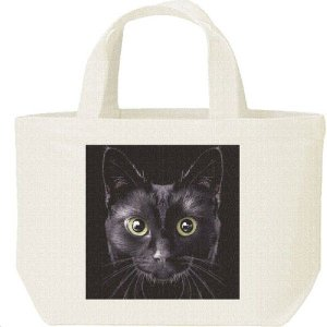 キャンバスバッグ・S 暗闇の黒猫(くろねこ) ランチバッグ|prints