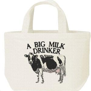 牛(ホルスタイン)ミルク大好き/キャンバスバッグ・S ランチバッグ prints