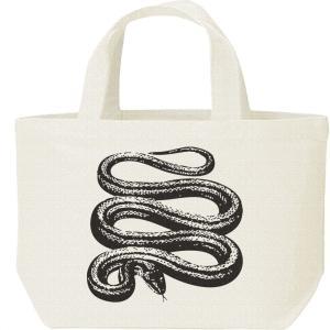 蛇(シマヘビ)/キャンバスバッグ・S ランチバッグ|prints