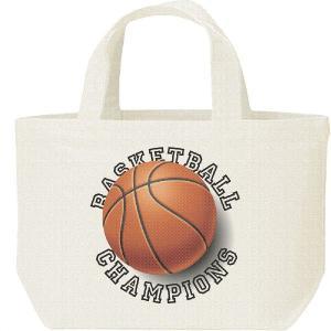 キャンバスバッグ・S バスケットボール(トロンプルイユ)バスケ ランチバッグ|prints
