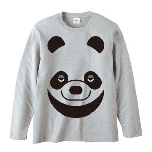 パンダ(ファニーフェイス・ぱんだ)/長袖Tシャツ prints