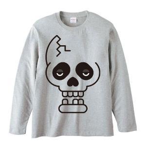 ドクロ(ファニーフェイス・どくろ)/長袖Tシャツ prints