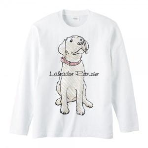 ラブラドール レトリバー(クレヨンタッチ)犬/長袖Tシャツ|prints