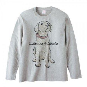 ラブラドール レトリバー(クレヨンタッチ)犬/長袖Tシャツ|prints|02