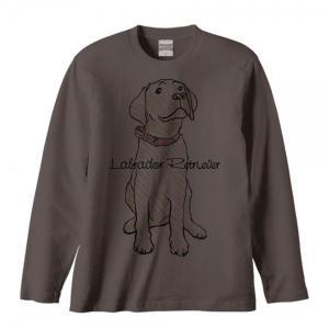 ラブラドール レトリバー(クレヨンタッチ)犬/長袖Tシャツ|prints|03