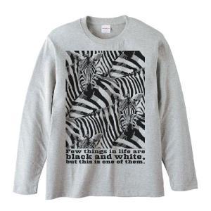 シマウマの群れ(白黒つけられる縞馬)/長袖Tシャツ|prints