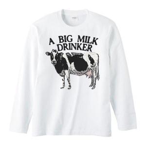 牛(ホルスタイン)ミルク大好き/長袖Tシャツ prints