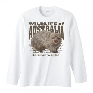 ヒメ ウォンバット(オーストラリアの生物)/長袖Tシャツ|prints