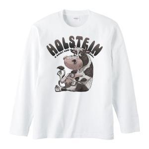 ホルスタイン(アニメタッチ)/長袖Tシャツ prints