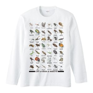 長袖Tシャツ 虫のリスト ロング スリーブ |prints